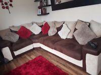 Corner sofa swivel chair and foot puffy