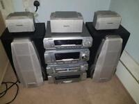 Technics hi fi sound system with dvd player