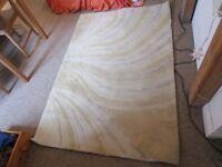 120x180cm natural beige cream white textured medium-thickness wool rug