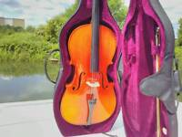 Full size Cello for beginners, bow, stiff case. Must go!!