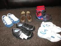 BUNDLE OF BOYS SHOES/TRAINERS/BOOTS SIZE 7 - SOME BRAND NEW