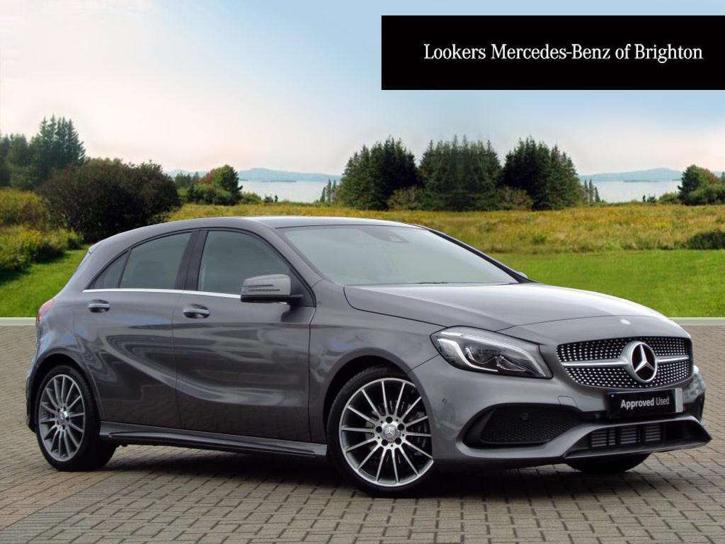 mercedes benz a class a 180 d amg line premium plus grey. Black Bedroom Furniture Sets. Home Design Ideas