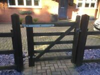 2 x wooden gates, small and large