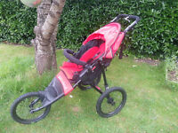 As New Out 'N' About Nipper Sport V4 Pushchair, Red