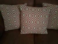 Pillows and throw