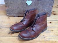 Men's leather brogue boots size 12