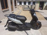 Moped in excellent condition with low mileage in silver