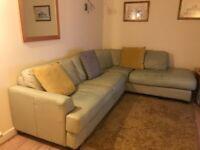 FREE Cream leather corner suite