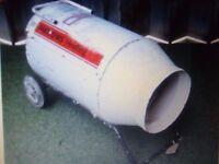 Andrews heating, large gas workshop heater. Bottle gas heater