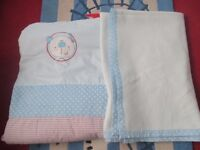 boys cot quilt and blanket