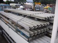 SECOND HAND / USED ROOFING SHEETS BOX PROFILE PLASTIC COATED PRESTON LANCASHIRE