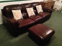 3 seater, 2 seater, armchair and Puffy Real Leather