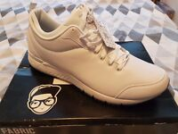 Fabric Outlaw white mens trainers size 12 *new*