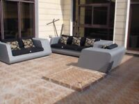 High Quality 100% Weatherproof and Waterproof Garden Sofa Set 3x2x1.