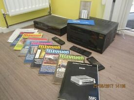 Housemove/House clearance. Classic Video VCRs & books, ideal for shop display/carboot/ebay.