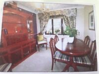 Yew Dining Table & Chairs seats 6