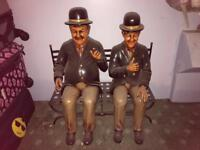Laurel and Hardy xl figures