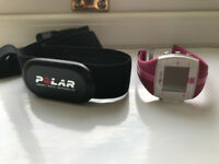 Pink Polar Fitness Watch and Heart Rate Monitor