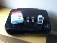 Canon wifi all In one printer ***Repair needed **with 3 unopened inks worth £30