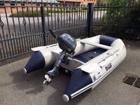 Wetline 300AD tender dinghy with Yamaha 4hp 4-stroke outboard