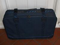 Blue Fabric wheeled case
