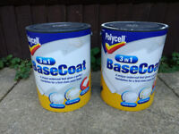 Polycell 3 in 1 white matt basecoat paint - 5l + 1-2l
