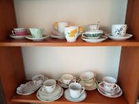 Vintage cups & saucers and plates – mixed lot