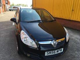 Vauxall corsa 1.2 petrol black 5 door full service history mot until 2/2/19