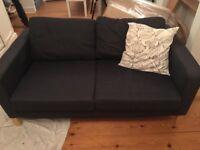 IKEA 3 Seater Sofa - charcoal grey