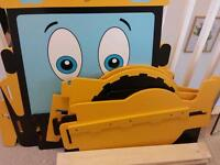 My first JCB toddler bed