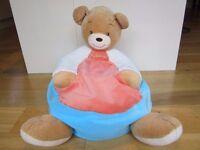 KALOO BEAR SEAT ~ EXCELLENT CONDITION ~ CREAM, ORANGE & BLUE ~ £15