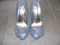 Navy Blue Stiletto Heel Shoes Size 3 Only Worn Twice.