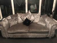 Sofa crushed velvet