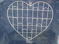 Two Heart Shaped Wedding Table Seating or Note Holders - Large & Small - Cream