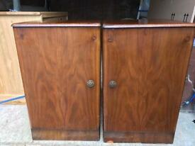 Pair of old bedside cabinets FREE DELIVERY PLYMOUTH AREA