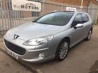 PEUGEOT 407 SW 2.7 V6 HDI GT AUTOMATIC LEATHER SAT NAV DIESEL PAN ROOF