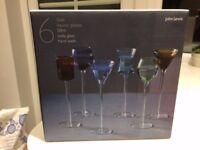 John Lewis Gala Liqueur Glasses, Set of 6, Multi Coloured, 50ml