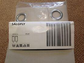 NEW IKEA SALGFLY BEIGE CURTAINS AND IKEA CURTAIN RAIL 145 WIDTH 165 CM DROP