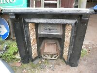 CAST IRON TILED FIREPLACE VINTAGE CAST IRON FIRE INSERT