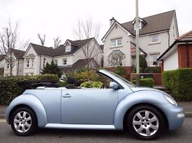 12 MONTH WARRANTY! VOLKSWAGEN BEETLE CABRIOLET 1.6 - 1 Lady Owner - Very Low Mileage - FSH-12 Stamps
