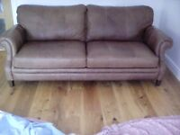 Dfs Brown Leather Sofa
