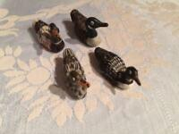 4 Soapstone Ducks