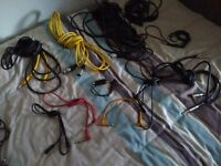 Various leads - guitar and microphone