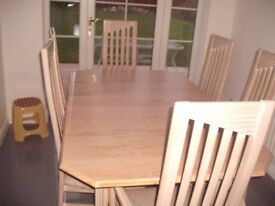Dining Table And Chairs For sale. Leicester.