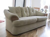 3 seat fabric sofa and armchair