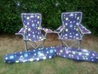 2 childrens camping chairs