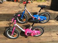 "Kids Bikes 14"" wheels"