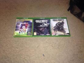 3 Xbox one GAMES! FIFA 16, COD Ghosts and Advanced Warfare