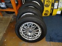 SET OF FOX ALLOY WHEELS AND TYRES 205/60 R15 5 STUD VW GOLF MAY FIT OTHERS