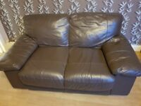 SUPER COMFY REAL LEATHER 2 SEATS SOFA FOR SALE
